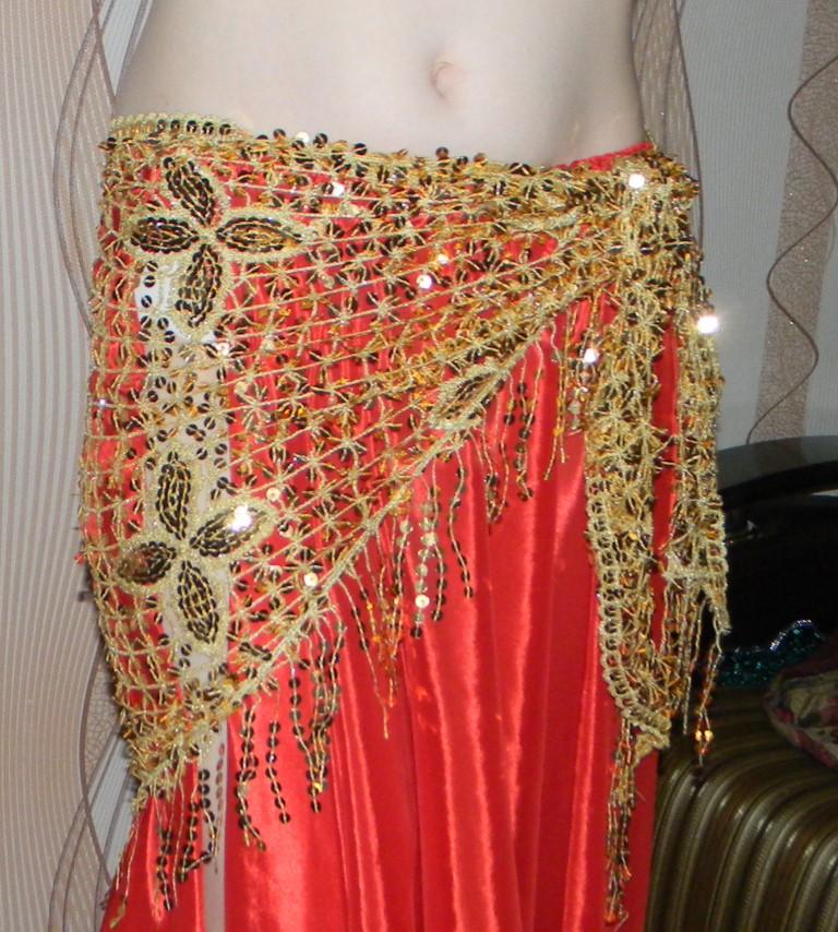 Набедренный платок для восточных танцев своими руками